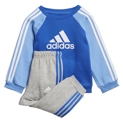 Adidas Kids Tracksuit Set Training Athletics Baby Boys Logo Fleece Jogger ED1159