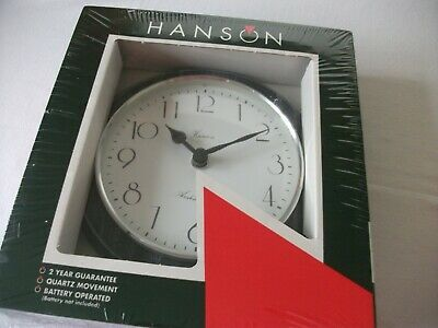 Vintage Wooden Wall Clock Hanson Arden Forest Grey Wash Unused in original box