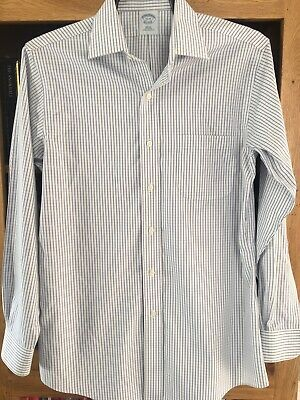 Brooks Brothers Check Slim Fit - Non Iron Long Sleeve Shirt - Size 15 -33