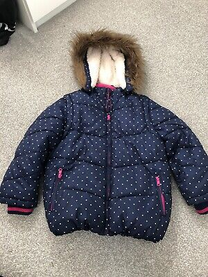John Lewis Girls Padded And Lined Coat  Age 7. Turns Into Gillet. Exc Cond