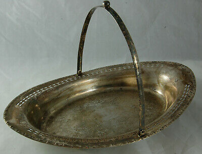 Falstaff - Silver Plated Dish with Handle and Pierced Rim