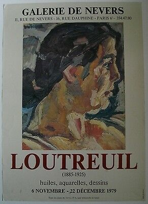 Affiche LOUTREUIL Exposition 1979 Galerie de Nevers, Paris