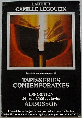 Affiche TAPISSERIES CONTEMPORAINES Exposition Aubusson BORDERIE