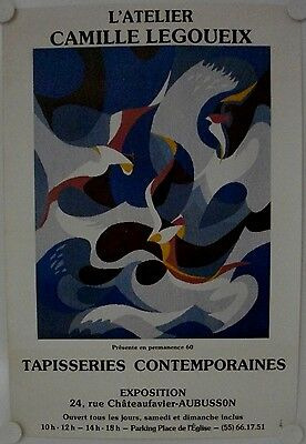 Affiche TAPISSERIES CONTEMPORAINES Exposition Aubusson