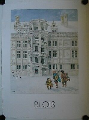 Affiche BLOIS illustr. Legendre KVATER