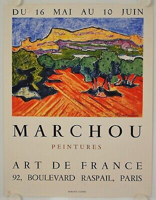 Affiche GEORGES MARCHOU Exposition Galerie Art de France - Paris