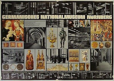 Affiche Germanisches Nationalmuseum MUSEE NATIONAL ALLEMAND NUREMBERG