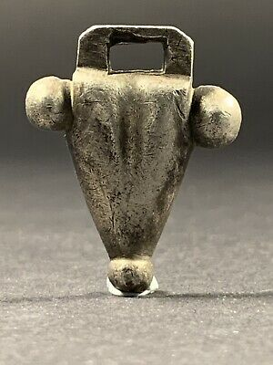 Stunning Ancient Celtic Silver Bull Amulet Pendant - Circa 1000-800Bce