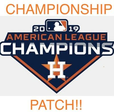 2019 Houston Astros American League Champions Patch Mlb World Series Iron On