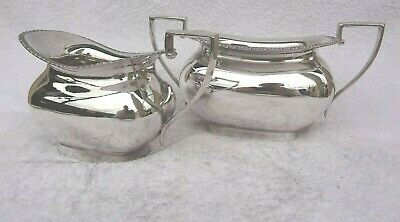 Vintage Silver Plated Walker & Hall Cream Milk Jug & Sugar Dish