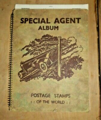 Special Agent Album Postage Stamps Of The World 540 Stamps Rare Collection  F455