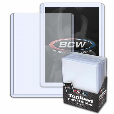 1 Pack 25Ct New Bcw Standard 12 Mil Trading Card Top Loaders 3X4 (20-35Pt)