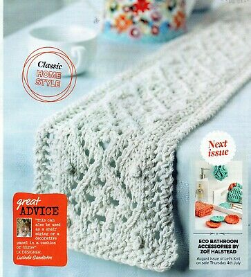 ~ Pull-Out Knitting Pattern For Beautiful Lace Table Runner ~ See Photos ~