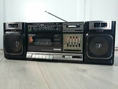 1980s SONY CFS-1000L BOOMBOX GHETTO BLASTER VINTAGE RARE WORKING