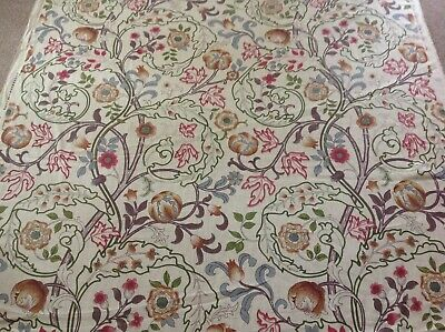 William Morris Curtain Fabric 'Mary Isobel' 1M Rose/Slate - 100% Linen