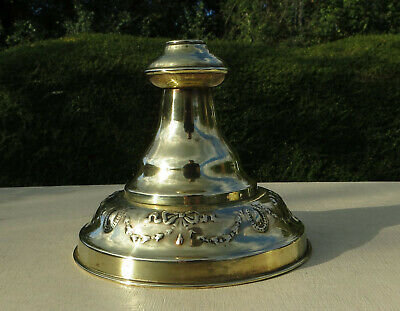 Decorative Antique Edwardian/Victorian Brass Oil Lamp Base - Swags & Bows
