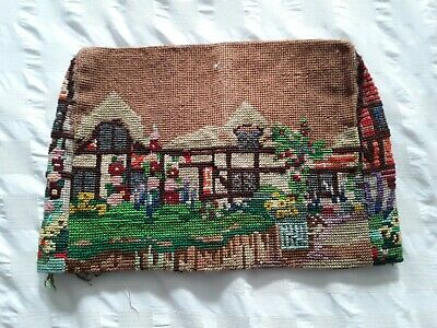 Vintage tapestry tea cosy - requires completion - no threads included