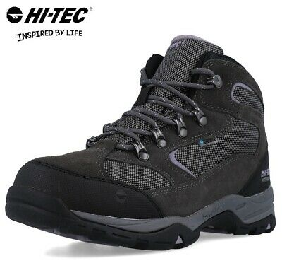 Hi-Tec Storm Waterproof Leather Suede Lace Up Walking Hiking Womens Trail Boots