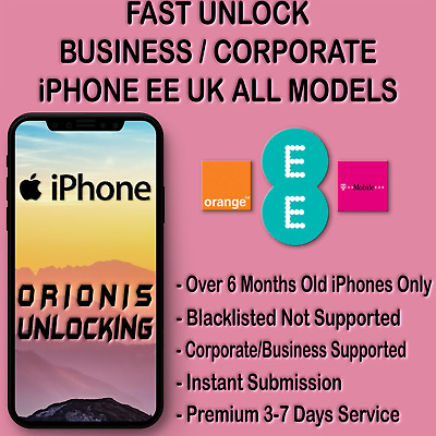 UNLOCK CODE FOR iPhone XR XS MAX X 8 7 6S 6 SE CORPORATE BUSINESS EE T-MOBILE UK