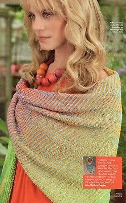 ~ Knitting Pattern For Lady's Stunning Gradient Colour Shawl ~