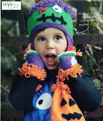 ~ Pull-Out Knitting Pattern For Child's Spooky Halloween Set ~ See Photos ~