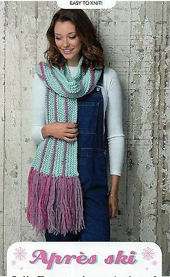 ~ Pull-Out Knitting Pattern For Chunky Fringed Stripy Scarf, Leg & Armwarmers ~