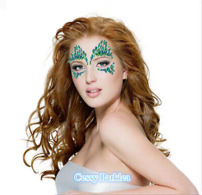 DR8 Poison Ivy Festival Adhesive Face Gems Rhinestone Jewels Stickers Tattoo