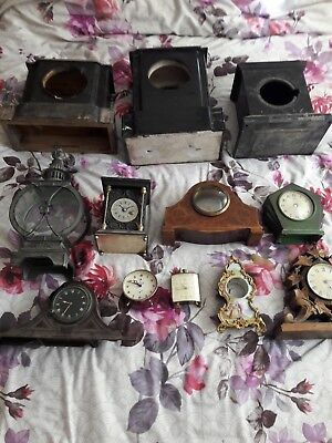 ☆☆☆Job Lot Of Vintage Clock Cases/Parts☆☆☆