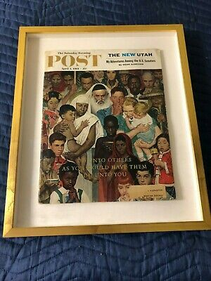 1961 APRIL 1 THE SATURDAY EVENING POST MAGAZINE - ILLUSTRATED COVER - Framed