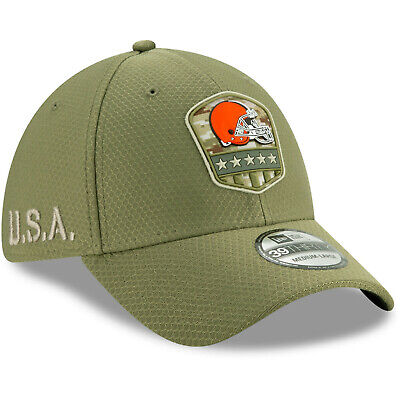 2019 Cleveland Browns New Era 39THIRTY NFL Salute To Service Sideline Cap Hat
