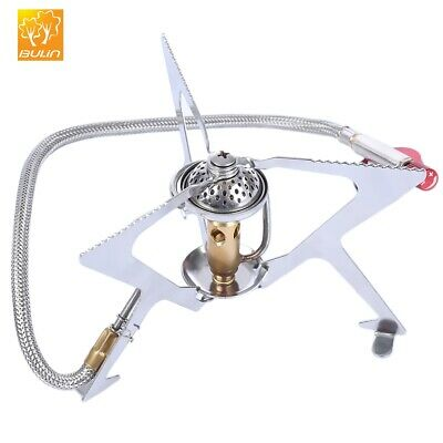 Windproof Camping Gas Stove Outdoor Cooking Stove Foldable Split Burner N1Z0