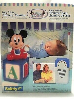 vintage 1994 Disney Safety First Mickey Mouse Nursery Baby Monitor Night Light