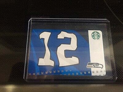 NEW Rare Starbucks SEATTLE SEAHAWKS 12th Flag Gift Card 2019 Ltd Edition