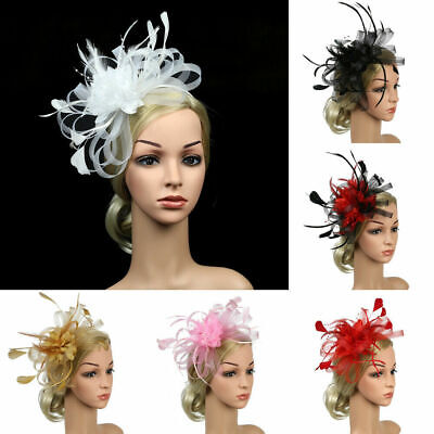 Fascinator Wedding Flowers Ladies Race Headband Feather Hair Accessories Ascot