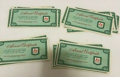 S & H Green Stamps Sperry and Hutchinson Award Certificates Unused Lot Of 40