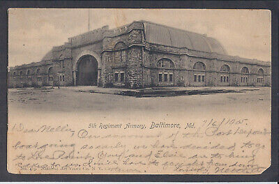 Postcard Exterior 5th Regiment Armory, Baltimore, MD