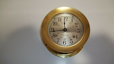 Seth Thomas Corsair Ship's Bell Clock With Solid Brass Case