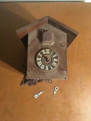 Antique Black Forest Cuckoo Clock For Parts