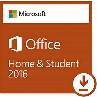 Microsoft Office 2016  Home & Student  Retail Box  (keycard)Free Shipping!