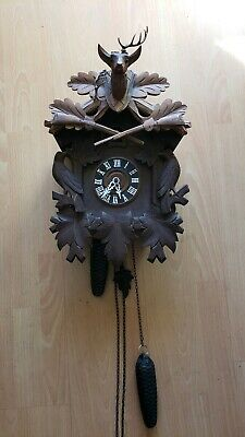 Large Vintage german beautiful  cuckoo clock, for parts or repair 3 DAY AUCTION