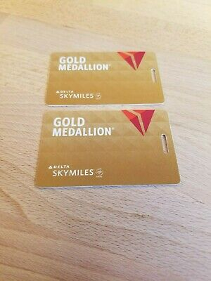 Delta Sky Medallion Gold Bag Tags New
