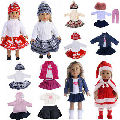 Handmade Doll Clothes Dress Suit Outfit Costume Accessories For 18'' Girls Dolls