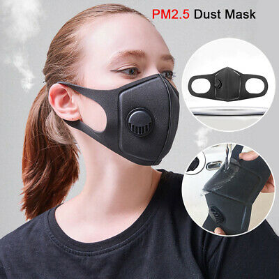 Washable Mask Cycling Anti Dust Mouth Face Mask Surgical Respirator W/ Filter AU