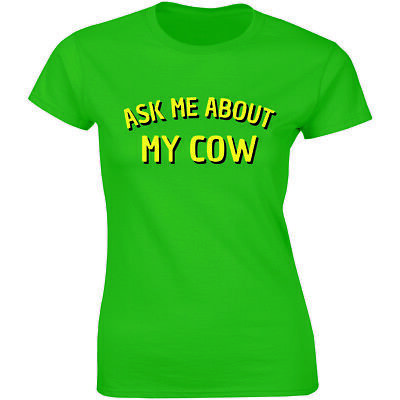 Womens Ask Me About My Goat Flip Up T Shirt Cute Farm Animal Slim Fit Tee