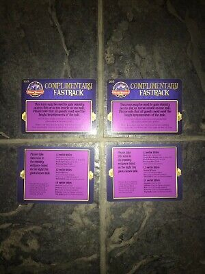 (4x) Genuine 2019 Alton Towers Priority Pass (Fast Track)