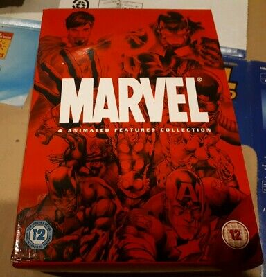 Marvel Animated Features Collection 4 Dvd Box Set - Avengers/Iron Man/Dr Strange