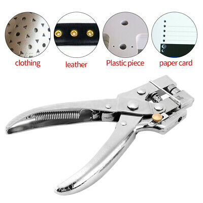 Grommet Rivet Eyelet Setting Plier Hole Punch Leather Belt Watch Band Tool NEW