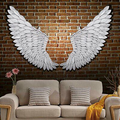 Banksy 40'' Large Rustic Angel Wing Wall Mount Hanging Canvas Art Bedroom Décor