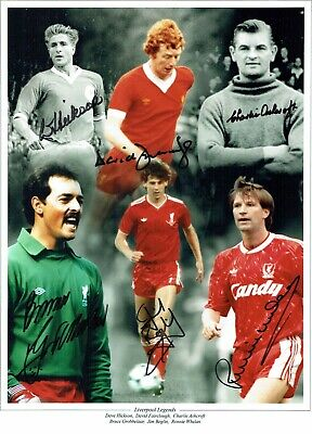 Liverpool Legends SIGNED 16x12 Photo AFTAL COA Charlie ASHCROFT Dave HICKSON