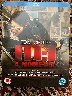Tom Cruise - Mission Impossible - 4 Movie Blu ray Boxset - New!